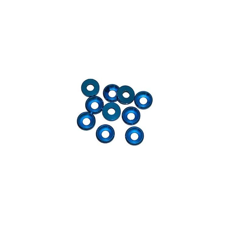 4 mm.alu podložky modré (10 ks.)