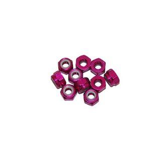 4 mm.alu samojistné matičky růžové (10 ks.)
