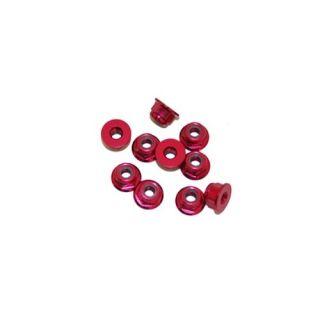 4 mm.alu samoistiacej matičky s osadením červené (10 ks.)
