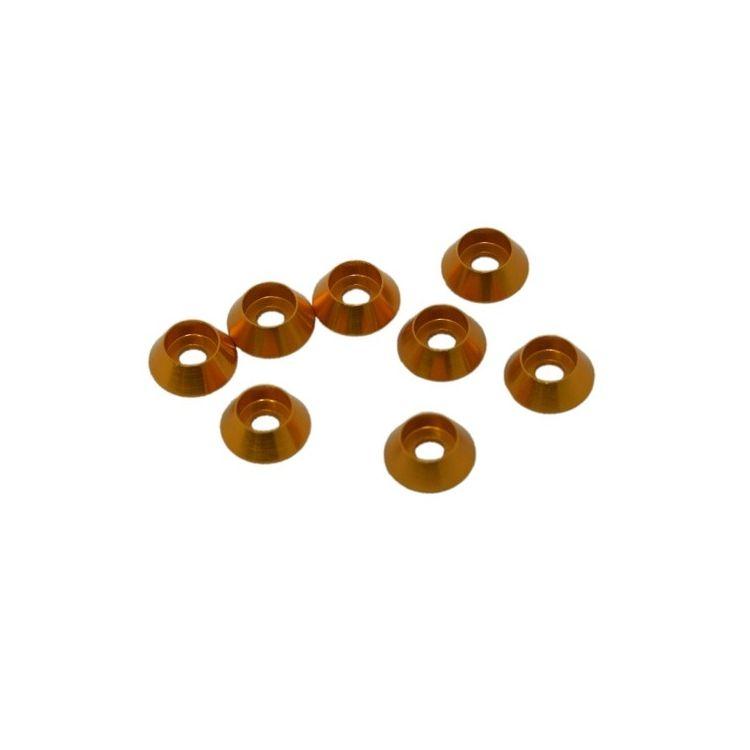 3 mm. alu kuželové podložky zlaté (8 ks.)