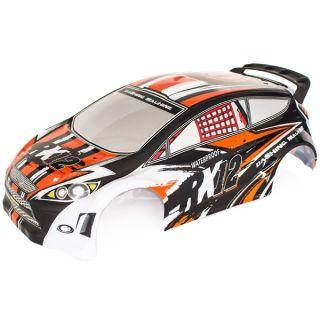 RX12 oranžová lakovaná lexanová karoserie