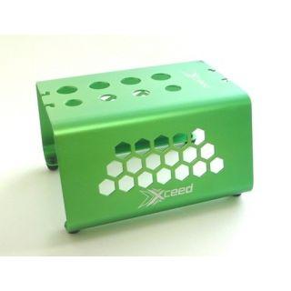 Car-stojánek alu zelený s mech. protiskluz. proužky pro 1/10 a 1/8 Buggy a Truggy podvozky