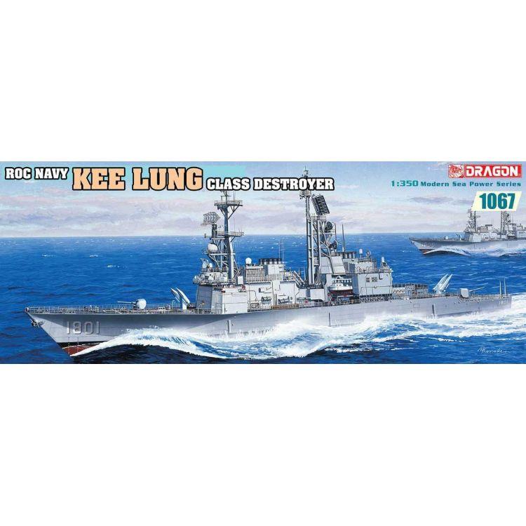 Model Kit loď 1067 - Roc Navy Kee Lung Class Destroyer (1:350)