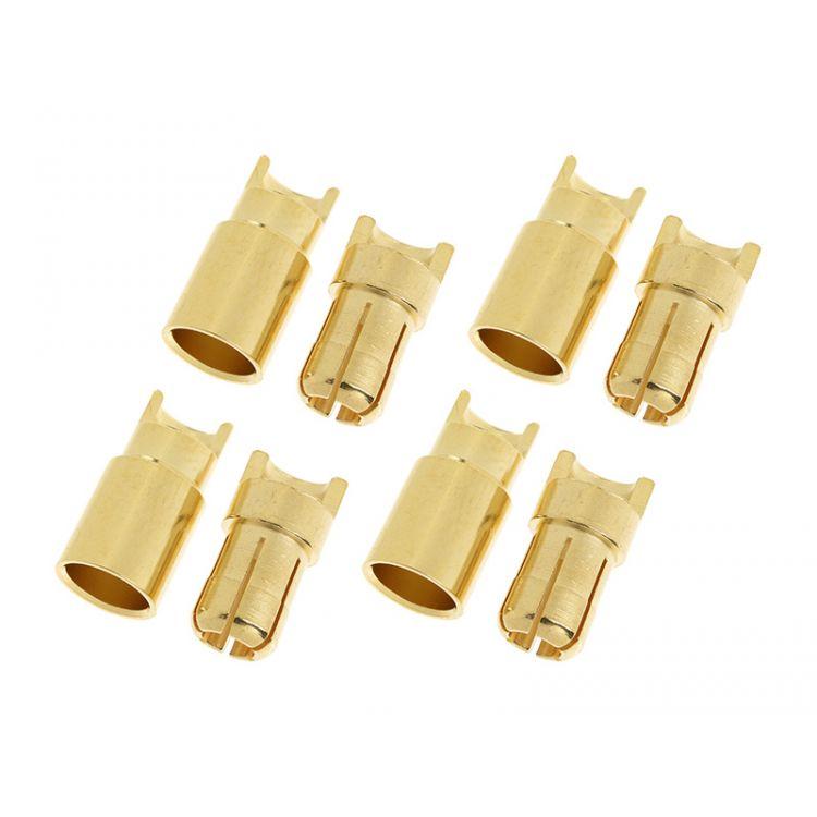Konektor zlacený 6.0mm (4 páry)