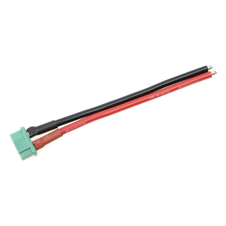 Konektor zlacený MPX samec s kabelem 14AWG 12cm