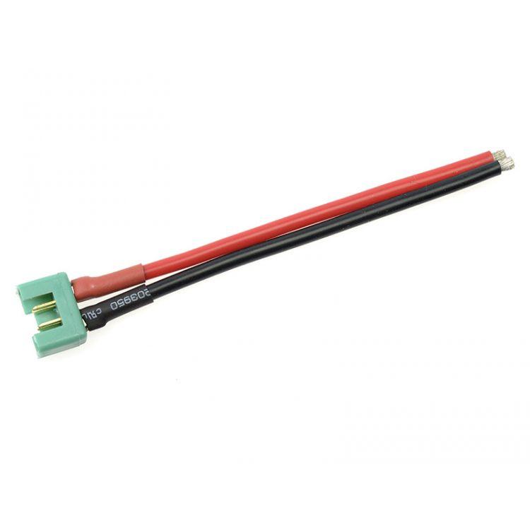 Konektor zlacený MPX samice s kabelem 14AWG 12cm