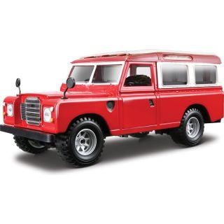 Bburago Land Rover Series II 1:24 červená