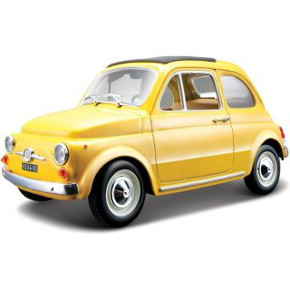 Bburago Fiat 500F 1965 1:24 žlutá
