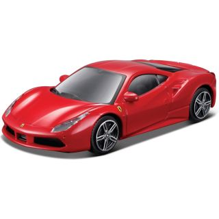 Bburago Ferrari 488 GTB 1:43 červená