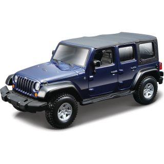 Bburago Jeep Wrangler 1:32 modrá metalíza