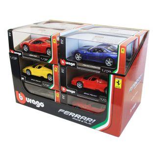 Bburago sada modelů aut Ferrari 1:32 12ks