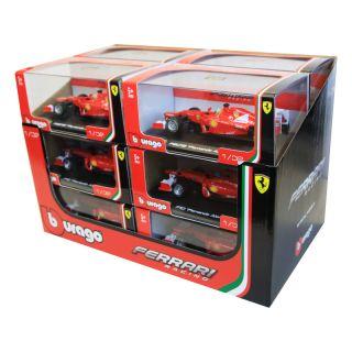 Bburago sada modelů formulí Ferrari 1:32 12ks