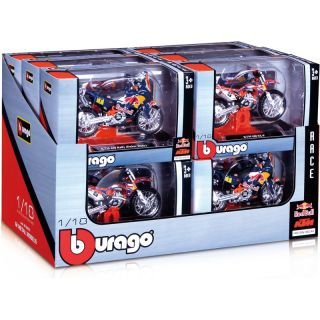 Bburago sada modelů motocyklů Red Bull KTM 1:18 12ks