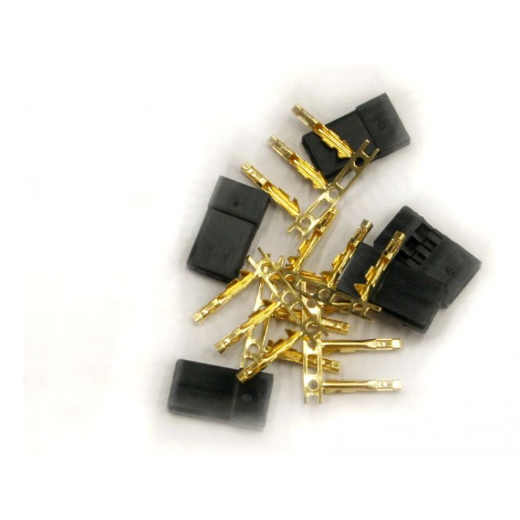 Servo konektor JR samec zlacený (5ks)