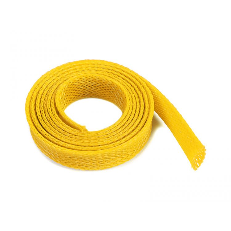 Ochranný kabelový oplet 10mm žlutý (1m)