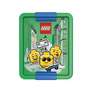 LEGO ICONIC Boy box na svačinu 170x135x69mm - modrý