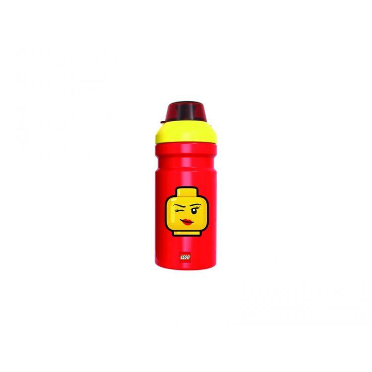 LEGO ICONIC Girl láhev na pití - červená