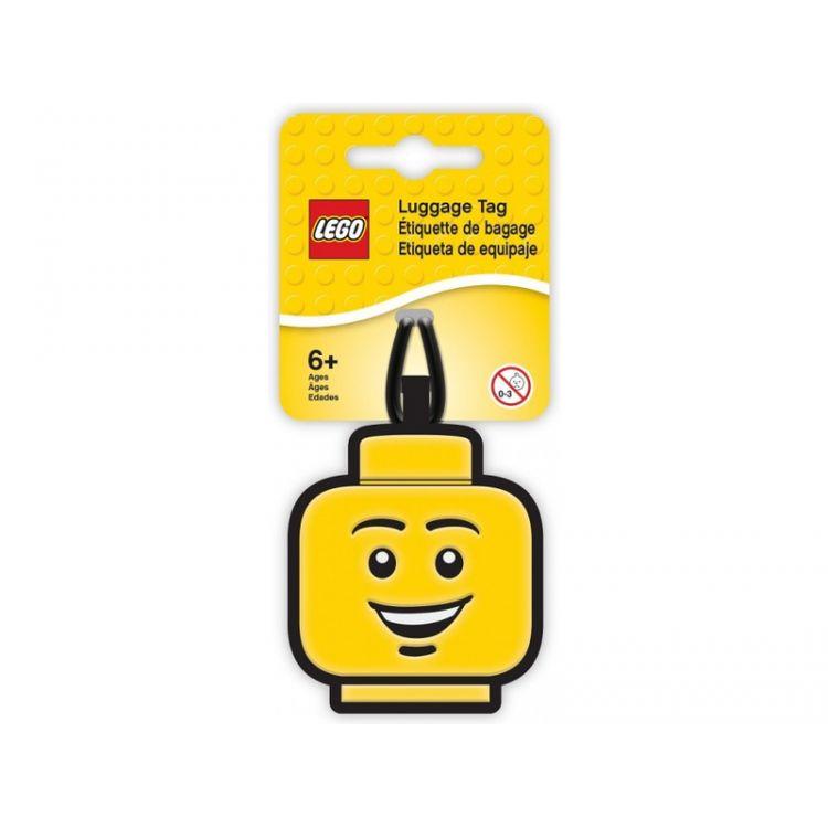 LEGO Iconic Jmenovka na zavazadlo - Hlava kluka