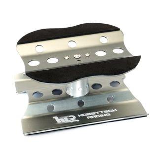 Kovový otočný montážný stojánek pro 1/10 a 1/8 modely - šedý