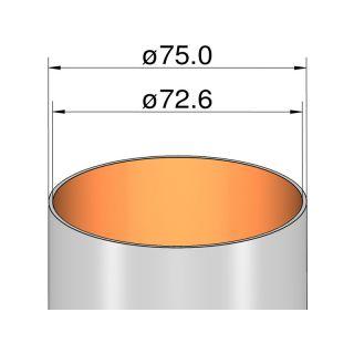Klima Papírová trubka 75mm / 250mm