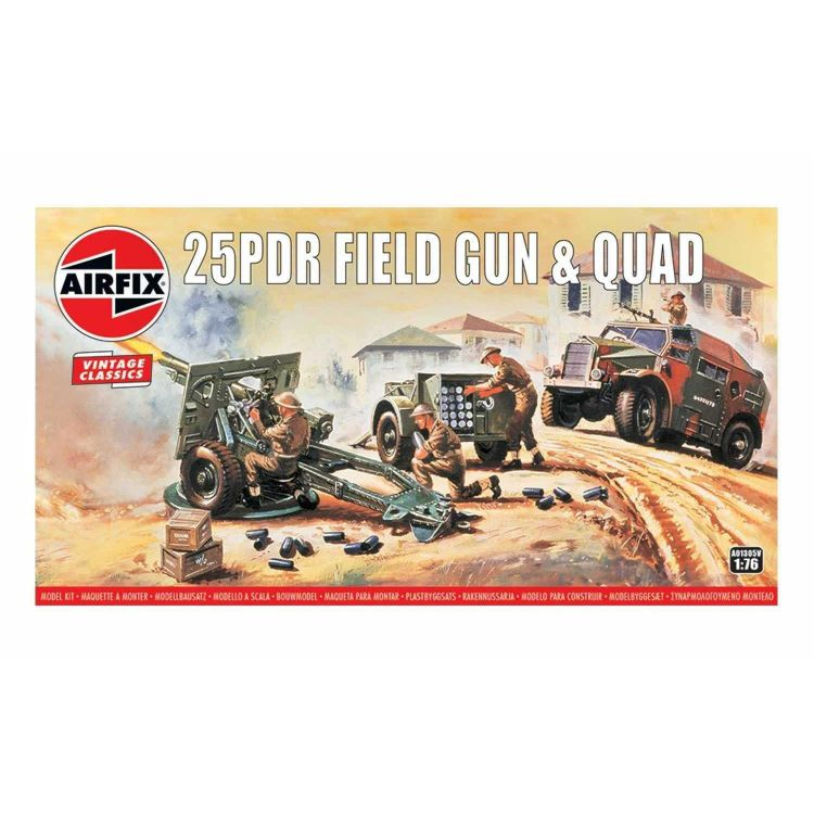 Classic Kit VINTAGE military A01305V - 25pdr  Field Gun & Quad (1:76)