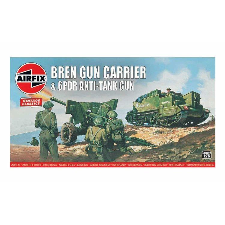 Classic Kit VINTAGE military A01309V - Bren Gun Carrier & 6 pdr Anti-Tank Gun (1:76)