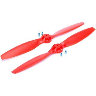 Blade 350 QX: Vrtule červená 1x levá, 1x pravá