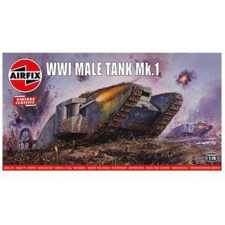 Classic Kit VINTAGE tank A01315V - WWI Male Tank Mk.I (1:76)