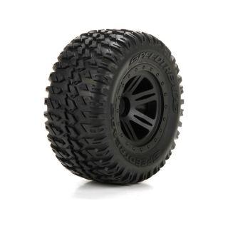 ECX 1:10 AMP DB / MT - Disk kolesa s pneu P / Z (2)