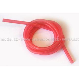 Silikonová hadička 2.4/5.5mm červená (1m)