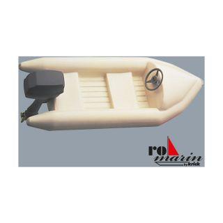 ROMARIN Gumový člun s atrapou závěsného motoru 1:25
