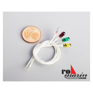 ROMARIN Lampa červená/50mA 6V pr. 3mm (50)