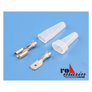 ROMARIN Konektor Faston 6.3mm s izolací (6 párů)
