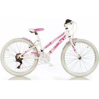 "DINO Bikes - Dětské kolo 24"" Aurelia Game Kit bílé"