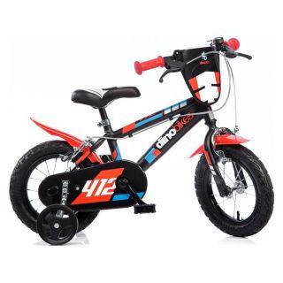 "DINO Bikes - Dětské kolo 12"" černo-červené"