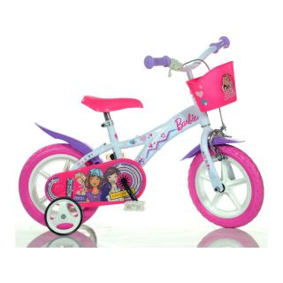"""DINO Bikes - Dětské kolo 12"""" Barbie s košíkem"""