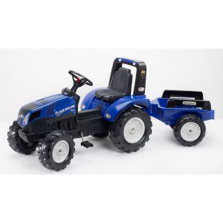 FALK - Šlapací traktor New Holland T8 s vlečkou