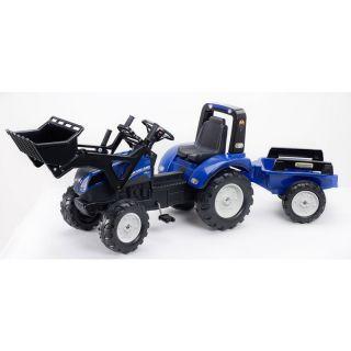 FALK - Šlapací traktor New Holland T8 s nakladačem a vlečkou
