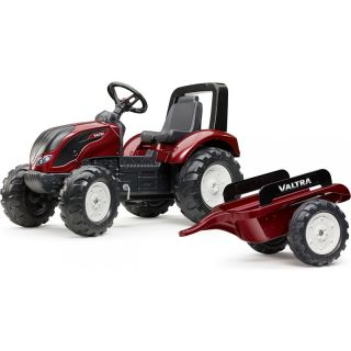 FALK - Šlapací traktor Valtra S4 s vlečkou