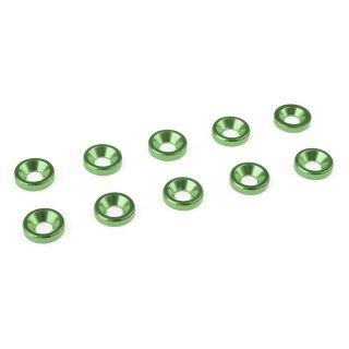 Podložka pro záp. šroub M3 hliník zelená (10)