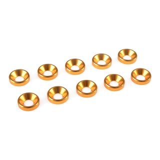Podložka pro záp. šroub M4 hliník zlatá (10)