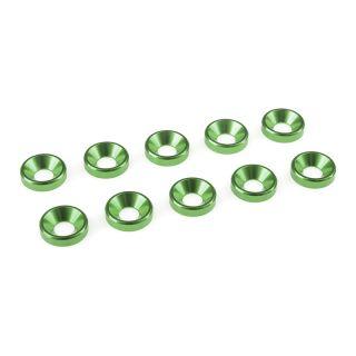 Podložka pro záp. šroub M4 hliník zelená (10)