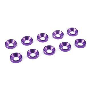 Podložka pro záp. šroub M4 hliník fialová (10)