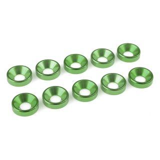 Podložka pro záp. šroub M5 hliník zelená (10)