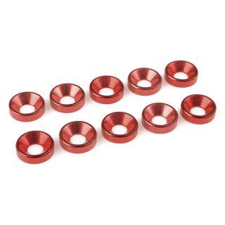 Podložka pro záp. šroub M5 hliník červená (10)