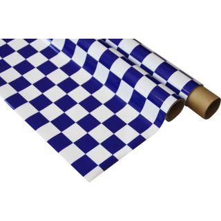 IronOnFilm - kostkovaná bílo/modrá 0.6x2m