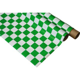 IronOnFilm - kostkovaná bílo/zelená 0.6x2m