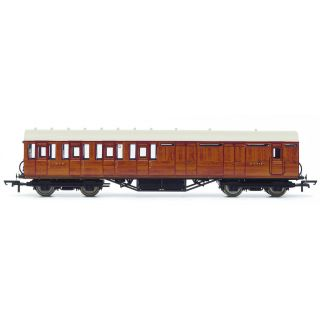 Vagón osobní HORNBY R4574A - LNER Thompson Non-corridor 3rd Class Brake Coach, Teak