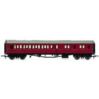 Vagón osobní HORNBY R4764 - BR Collett Coach Corridor Brake Third Class RH, Maroon