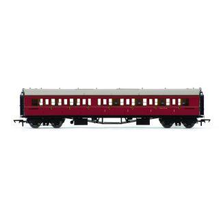 Vagón osobní HORNBY R4767 - BR Collett Coach Corridor Composite RH, Maroon